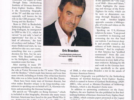 German Life, Eric Braeden - Book Review