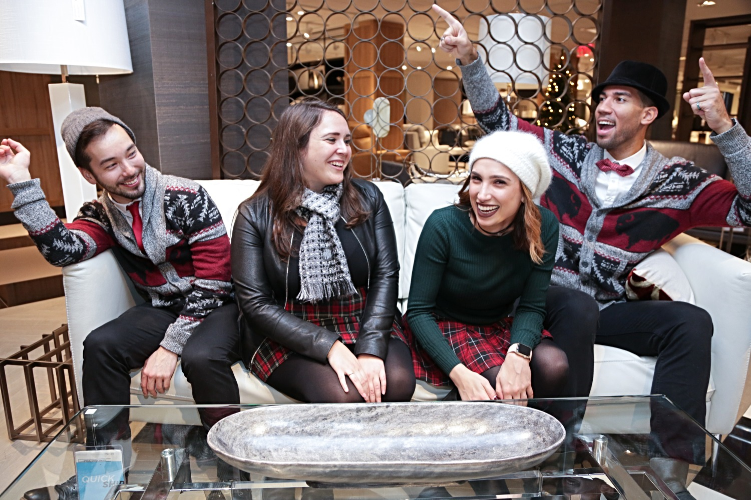 Trendy Carolers in New York