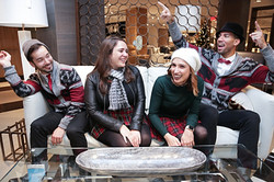 Trendy Carolers in New York