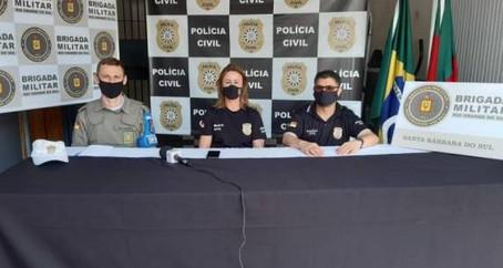 Brigada Militar e Polícia Civil desencadeiam Operação ''Dia de Treinamento'' em Santa Bárbara do Sul