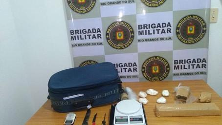 Brigada Militar apreende drogas em Santo Ângelo