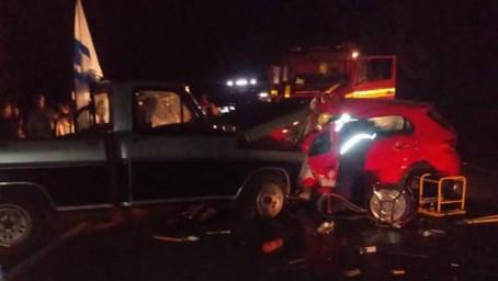 Colisão frontal entre veículos deixa um homem morto na RS 344 em Giruá