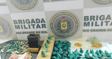 BM de Ijuí realiza prisão por tráfico de drogas
