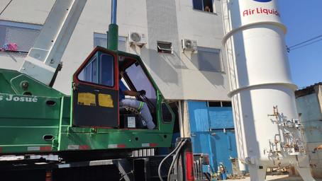 HSA amplia capacidade de abastecimento de oxigênio
