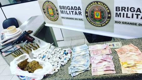 29°BPM prende casal de irmãos por tráfico de drogas, associação ao trafico e posse irregular de arma