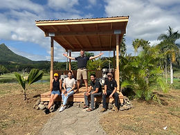 Community Cabana Constructed for First Kauhale
