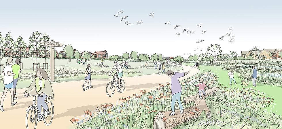 200717 Barnham - Sk Linear park view v5.