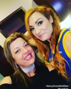 Nancy Grace and Becky Lynch WWE