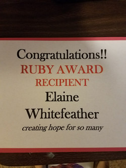 Soroptimist Ruby Award Winner
