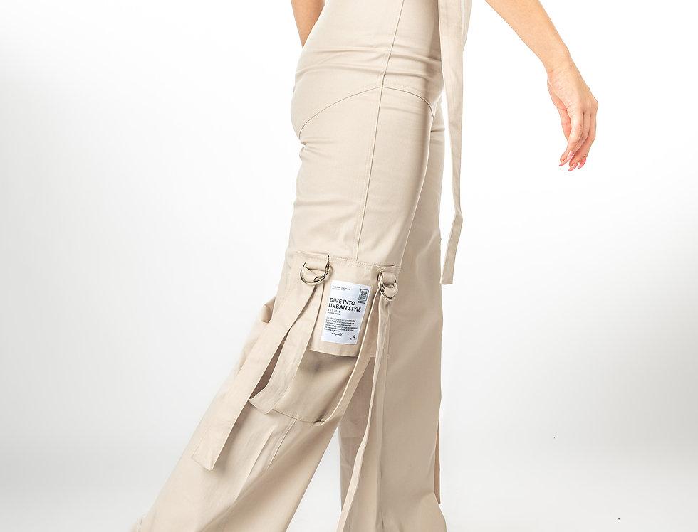 Pantalone - Bež Stripe