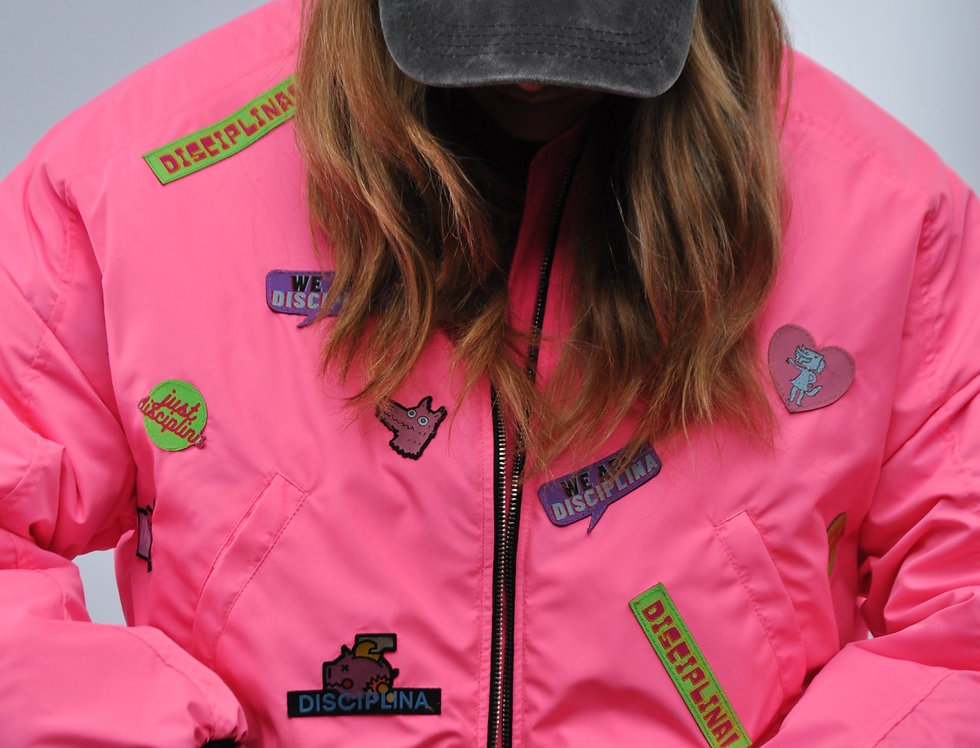 Bomber Jacket - Pink Patch