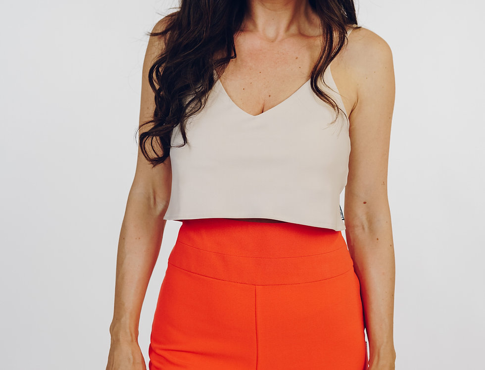 Majica bluza saten - Crop top