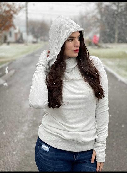 Cashmere Like Super soft sweater With hood