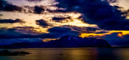 Sunset on Sandøya