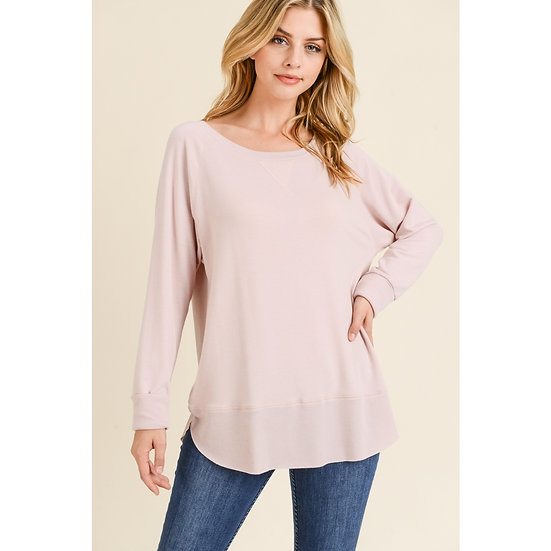 Dusty pink  Pullover Tunic
