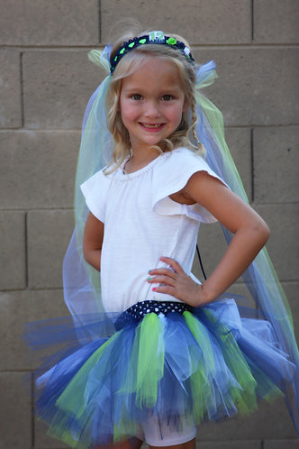 Seahawks Tulle Crowns
