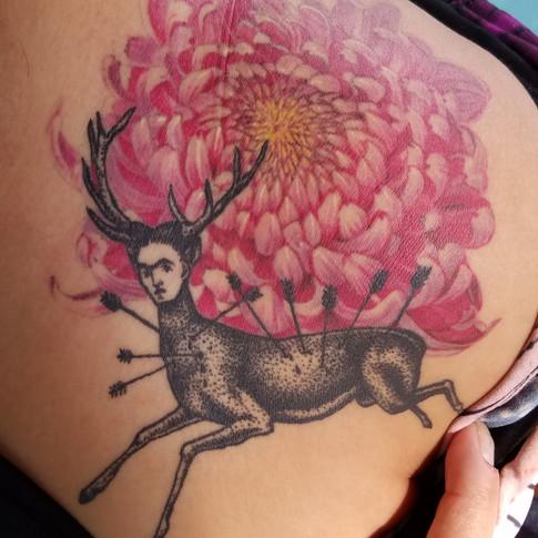 Frida Deer Tattoo