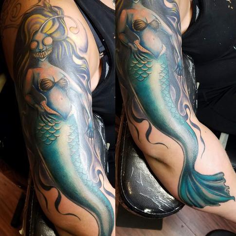 Angler Fish Horror Mermaid