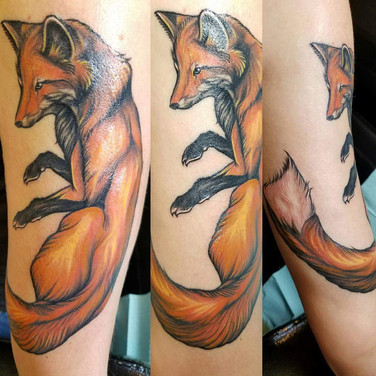 Illustrative Fox Tattoo