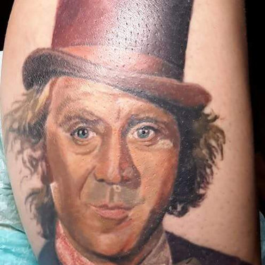 Color Portrait Tattoo WillyWonka