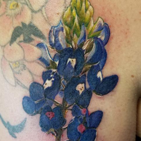 Realistic Bluebonnet Tattoo