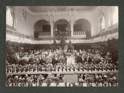 Exposition de roses coupées 1900