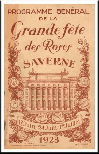 Programme de la fête des roses 1923