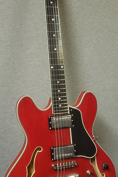 Eastman T386 Thinline with Hard Shell Case - Red