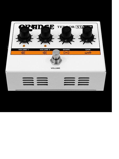 Orange Terror Stamp 20 Watt Tube Hybrid Pedal in White