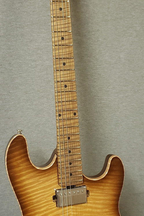 Ernie Ball Music Man Sabre Honey Suckle with Hard Shell Case