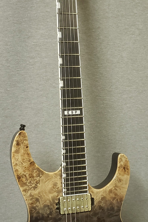 ESP E-II M-II NT Black Natural Fade with Hard Shell Case