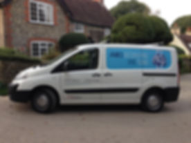 James Decorating and Tiling van at Telscombe Village East Sussex