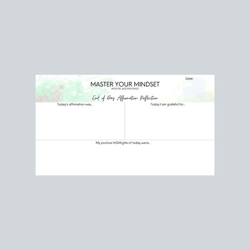 Adult Reflection Notepad