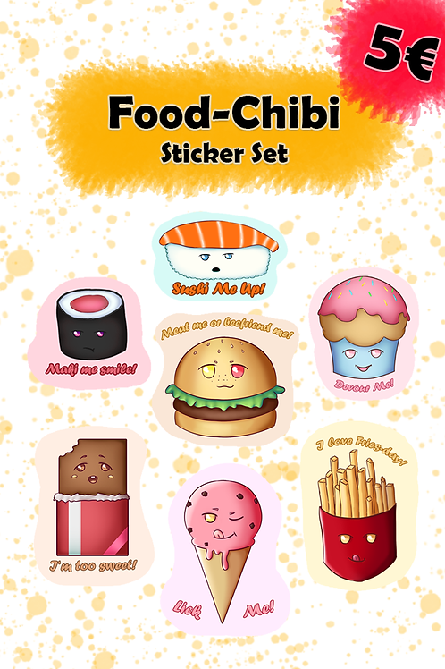 Food Chibi - Sticker Set 1