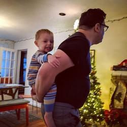 New Year's Day piggyback ride on Papi!_.