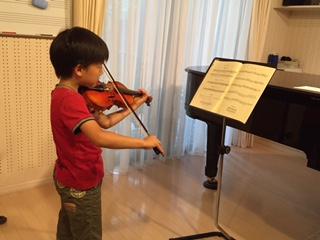 男の子のヴァイオリンレッスン