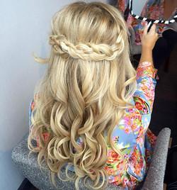 bridesmaid braided style