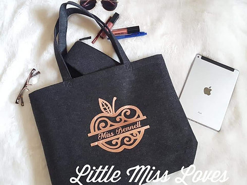 Felt tote & cup offer
