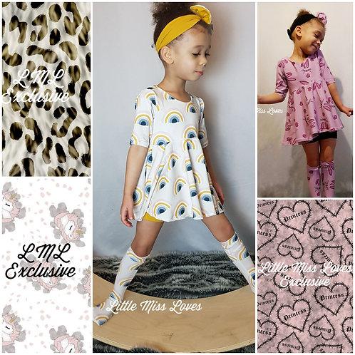 Top/dress set-various materials
