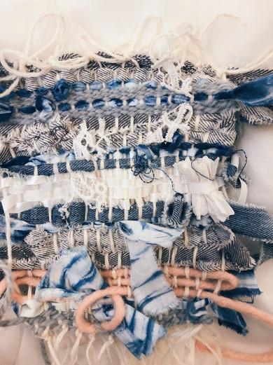 Hand Weaving - Repurposed Scraps
