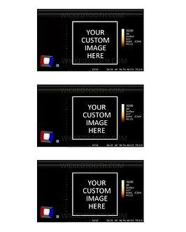 Custom 2d or 3d fake ultrasound strip
