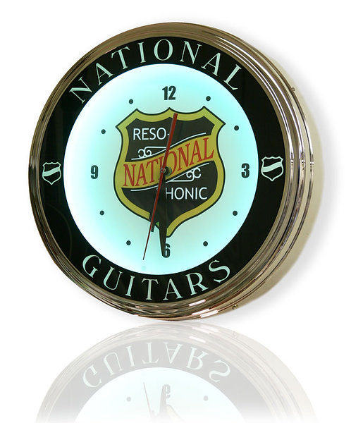 National Reso Phonic Guitar Clock