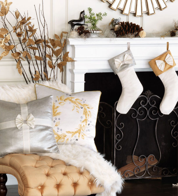 Glam Christmas Gift Decorative Accent Throw Pillows