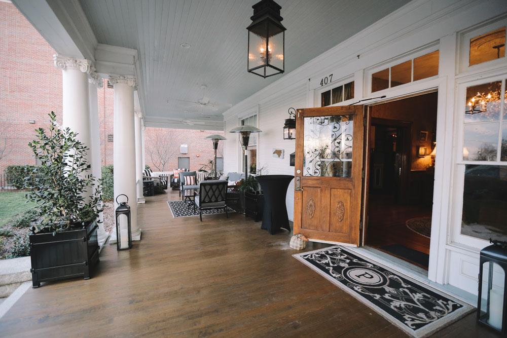 A classically Southern wraparound balcony, perfect for warm North Carolina days