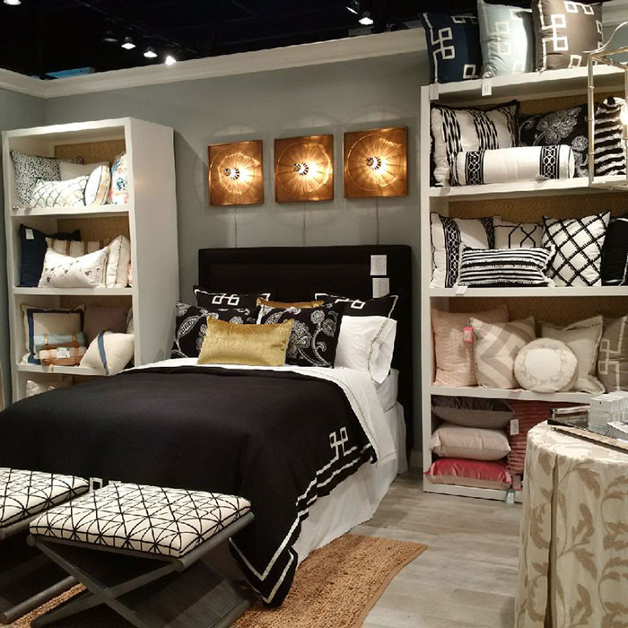 eastern accents luxury bedding las vegas market showroom
