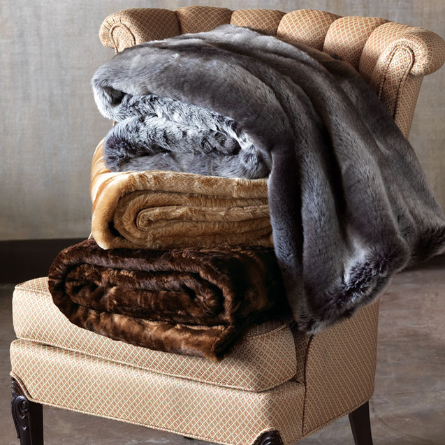 From our Saburra collection of faux fur decorative items, by Marquise