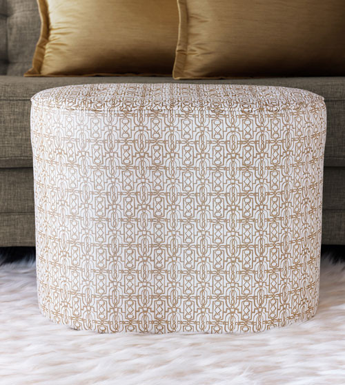 Juna Button-Tufted Custom Upholstered Footstool