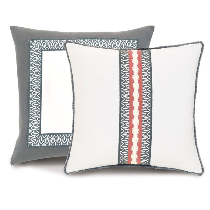 Channel the cosmopolitan cool of an elegant townhouse with this collection of weatherproof decorative pillows. Pairing warm grey tones with a punchy coral, Urban Balcony provides a chic backdrop for a lazy Sunday brunch or cocktails in the sun.