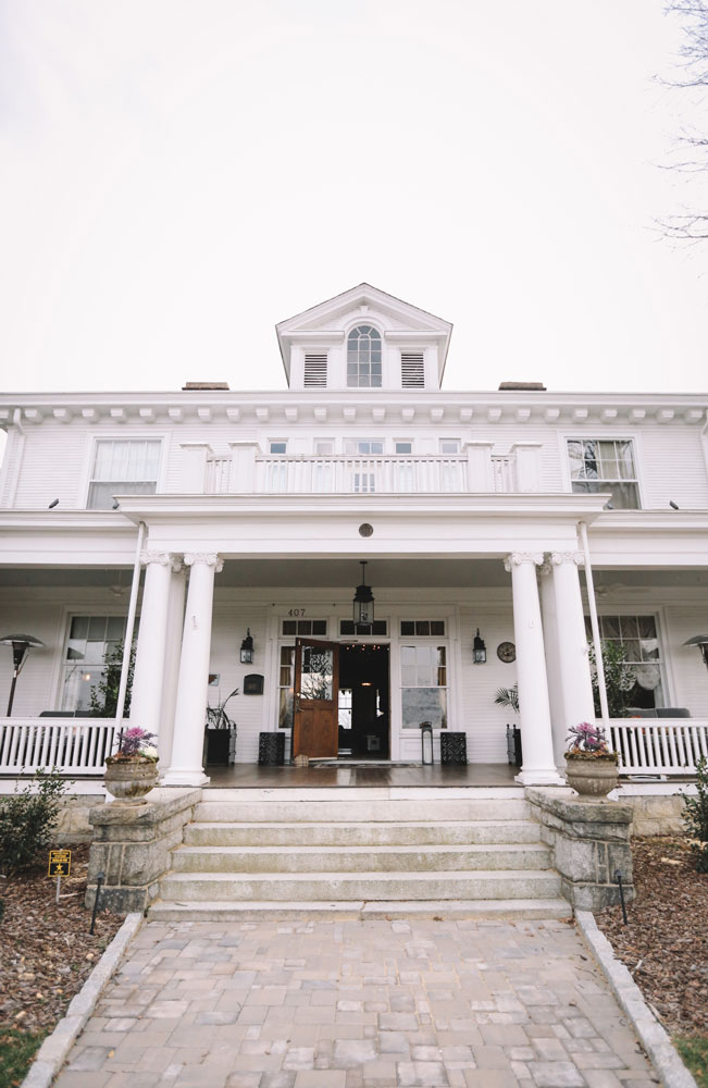 The 110-year-old home's historic exterior