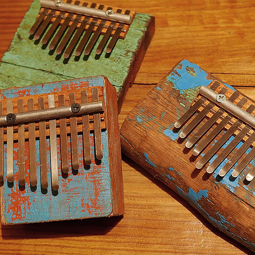 Rustic driftwood kalimba series